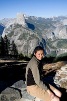 Zina in front of Half Dome