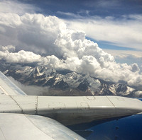 Flying to Kyrgyzstan