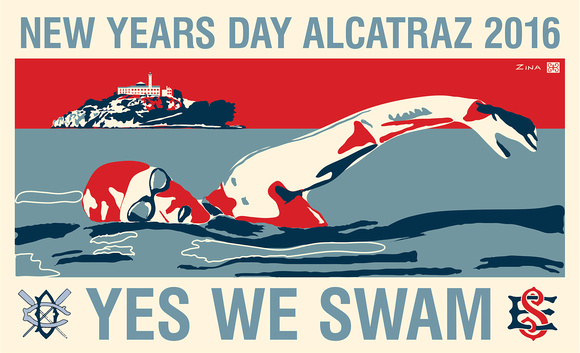 New Years Day Alcatraz swim design 2016