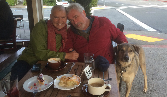 June 2014, Sausalito, with Dad and Escher
