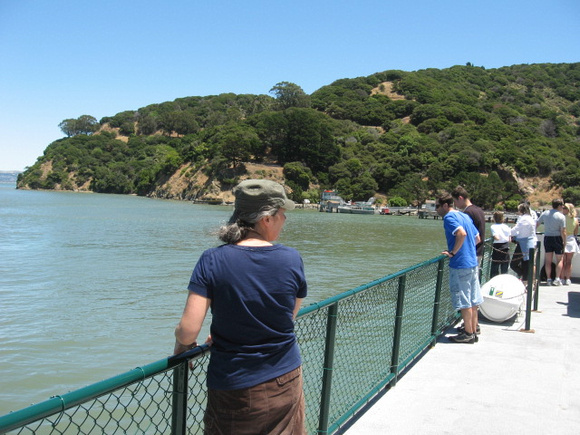 Arriving at Angel Island